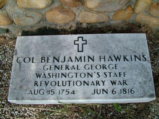 Col. Benjamin Hawkins Grave Marker