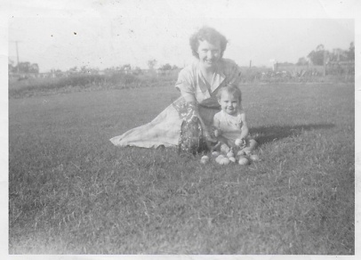 Mom and Cammie 1954