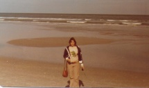 Jackie at the Atlantic Ocean