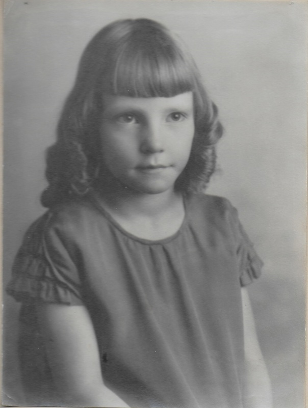 Maxine as a little girl