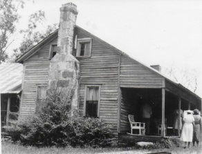 House as it was when Charles Hardin lived in Falkville,AL