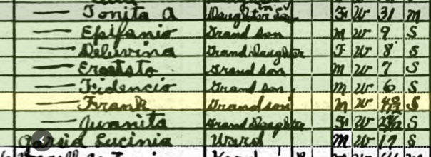 1920 Census for Uncle Frank
