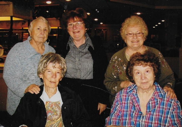 Judy thornhill, mona harwood, sharron rust, margaret king and Maxine